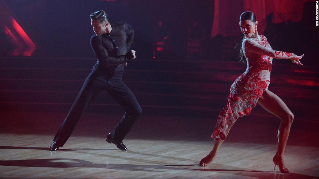 Derek Hough dances with Hayley Erbert on 'Dancing with the Stars'